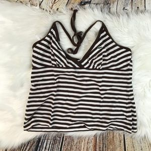 Lacoste Striped Halter Top